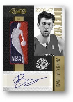 2010/11 Panini Timeless Treasures Rookie Year Materials Andrea Bargnani