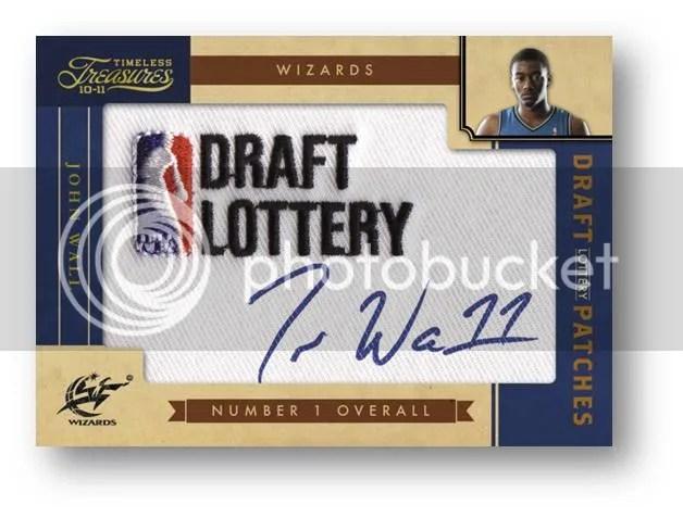 2010/11 Panini Timeless Treasures John Wall NBA Draft Lottery Autograph Patch