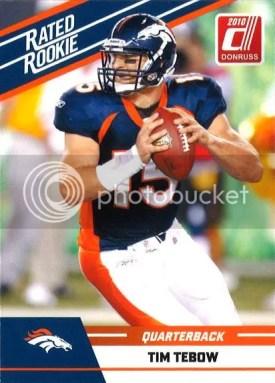 2010 Panini Donruss Rated Rookie Tim Tebow Card