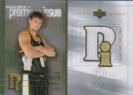 03/04 UD Glass Luke Ridnour Premier Issue Jersey Card