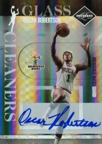 2010/11 Panini Limited Oscar Robertson Glass Cleaner Autograph