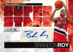 2010/11 Panini Rookies and Stars Super Stars Brandon Roy Autograph Card