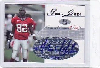 2005 Sage Autographed Fred Gibson Rookie Auto