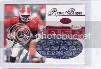 2005 Sage Autographed Reggie Brown Rookie Auto