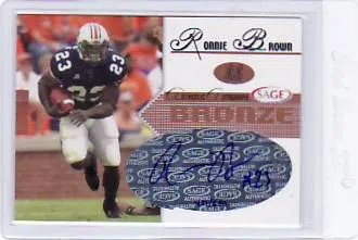 2005 SAGE Autograph Ronnie Brown RC Autograph