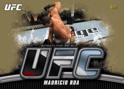 2010 Topps UFC Knockout Mauricio Rua Fight Mat Relic Card