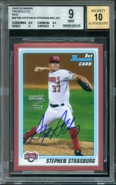 2010 Bowman Stephen Strasburg Red Auto /1 RC