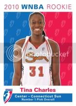 2010 Rittenhouse WNBA Tina Charles Rookie RC