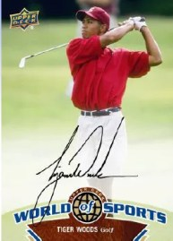 2010 World of Sports Tiger Woods Autograph