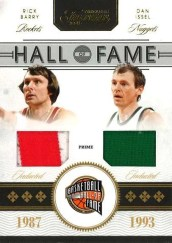 2010-11 Panini Timeless Treasures Hall of Fame Material Rick Berry - Dan Issel Dual Jersey Card