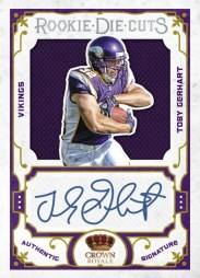 2010 Crown Royale Toby Gerhart Die Cut Prime Auto RC