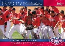 2011 Topps Opening Day Jason Heyward Celebrations
