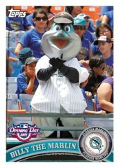 2011 Topps Opening Day Billy The Marlin