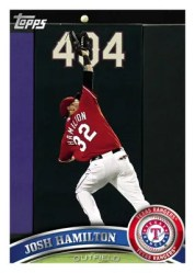 2011 Josh Hamilton Topps Series 2 Base Card
