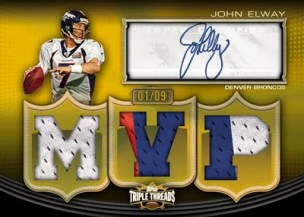 2010 Triple Threads John Elway Autograph Relic