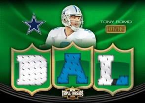 2010 Triple Threads Jersey Tony Romo