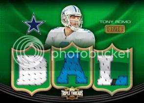 2010 Triple Threads Jersey Tony Romo