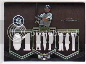 2010 Topps Triple Threads Ichiro MVP ROY Relic Jersey /27