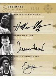 2010/11 UD Ultimate Collection Triple Signature