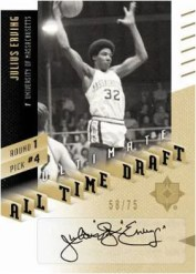 2010/11 Ultimate Collection Julius Erving All Time Draft Auto