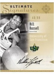 2010/11 UD Ultimate Collection Bill Russell Signature Auto