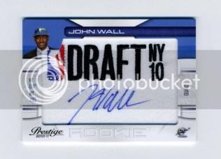 2010/11 Panini Prestige NBA Draft Class John Wall Autograph