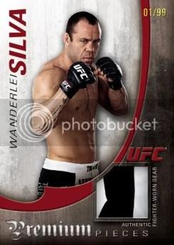 2010 Topps UFC Knockout Wanderlei Silva Premium Pieces Jersey Relic Card