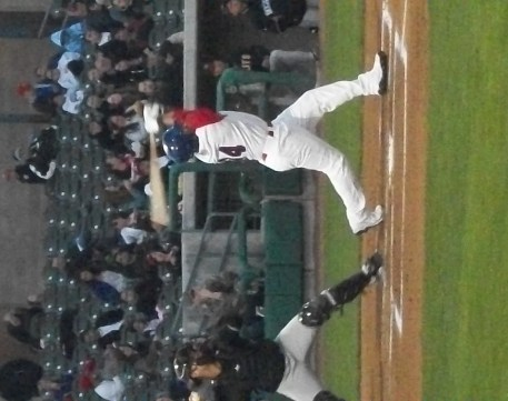 Stockton Ports Prospect CF Michael Choice Strike Out Swing Against Modesto Nuts