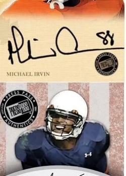 2011 Press Pass Legends Michael Irvin Autograph