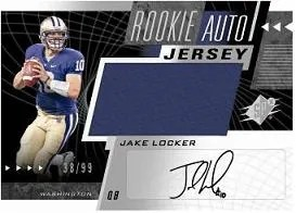 2011 Upper Deck Spx Jake Locker Auto Jersey