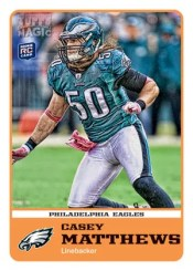 2011 Topps Magic Football Casey Matthews