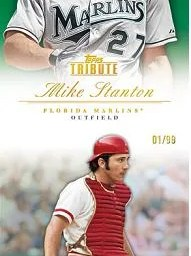 2012 Topps Tribute Mike Stanton Base Card Green Parallel