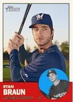 2012 Topps Heritage Ryan Braun Base Card