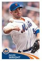 2012 Topps MLB Stickers David Wright Mets