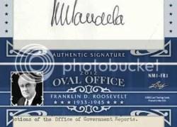 2012 Leaf Oval Office Franklin Roosevelt