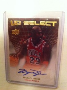 2009-10 Upper Deck Michael Jordan Basketball Autograph