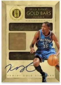 2010-11 Panini Gold Standard Bars Kevin Durant Autograph 14K Card
