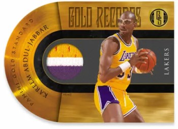 2010-11 Panini Gold Standard Records Kareem Abdul Jabbar Patch Jersey Card