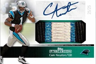 2011 Topps Precision Cam Newtion Autograph Patch Card