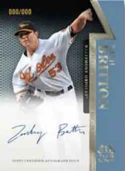 2011 Topps Tier One Zach Britton On The Rise Autograph Card
