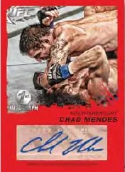 2011 Topps UFC Moment of Truth Certified Autographs Ruby Parallel