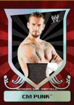 2011 Topps WWE Classic CM Punk Relic Card