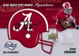2011 Upper Deck Sweet Spot Mark Ingram Autograph Helmet Card