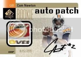 2011 Sp Authentic Cam Newton Auto Patch Rookie RC