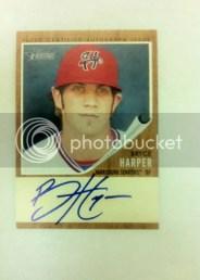 2011 Topps Heritage Minor League Bryce Harper Autograph