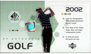 2002 Upper Deck SP Authentic Golf Hobby Box