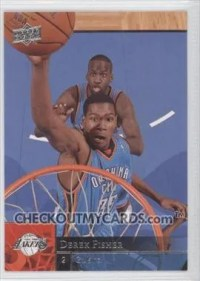 2009-10 Upper Deck Kevin Durant Wrong Name Derek Fisher