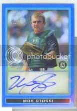 2009 Max Stassi Bowman Chrome Blue Refractor Autograph