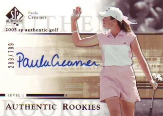 2005 Upper Deck SP Authentic 104 Paula Creamer #/799 Autograph RC Rookie Card