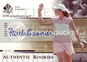 2005 Upper Deck SP Authentic 104 Paula Creamer #/799 Autograph RC Rookie Card